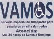 Transporte exclusivo para pasajeros con silla de ruedas