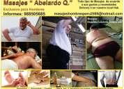 Masajes exclusivo para hombres : relajantes, espalda, todo el cuerpo en lima . masajista abelardo