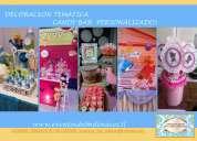decoracion tematica, personalizada, fiestas infantiles, candy bar, quinceaños, baby shower, lima