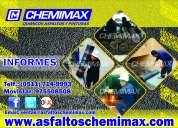 mantos asfálticos, venta e instalación *chemimax*