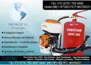 Fumigadores en lima, servicio de fumigacion peru 792-4646