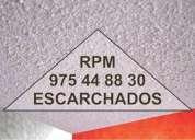 Escarcho paredes y techos:. pedidos al rpm.: 975 448830...25 soles m2.  duran para siempre