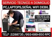 Servicio tecnico reparacion a internet wifi,computadoras,laptops,netbooks,a domicilio