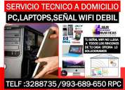Soporte tecnico a internet wifi,computadoras,laptops,routers,ca