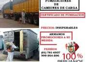 Fumigacion de camiones, certificado de fumigacion para camiones, fumigacion de furgoneta