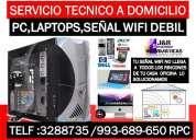 Soporte tecnico reparacion de computadoras,laptops,redes,a domicilio