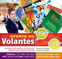 Oferta Volantes A5 para su negocio millar S/.150.00