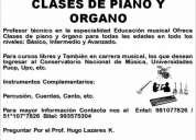 Profesor de piano y organo