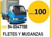 transporte  de  carga, fletes y mudanzas 946547788**