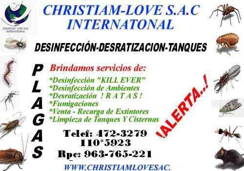 miraflores - servicio de fumigacion profesional en miraflores 472-3279