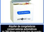 Alquiler de congeladoras conservadoras automaticas de 300 litros