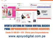 Sistema de tienda virtual para emprendedores