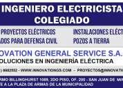 Ingenieros electricistas colegiados - planos - indeci - proyectos
