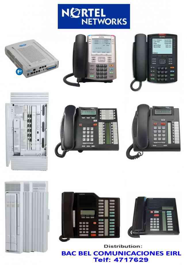 CENTRAL TELEFONICA / TELÉFONO / NORTEL- MERIDIAN - NORSTAR / VENTA Y SERVICIO (CENTRO AUTORIZADO)