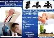 masajes relajantes exclusivos para hombres maduros y gorditos en lima cel: 988505685