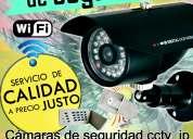 Servicio técnico en cámaras de seguridad, alarmas,redes wifi y otros.