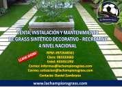 Grass sintético decorativo - recreativo venta instalación y mantenimiento a nivel nacional 9726485