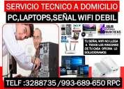 Tecnico en reparacion a computadoras,redes wifi,laptops,internet wifi,cableados,a domicilio oficinas