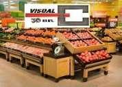 Gondolas de frutas y verduras para supermercados