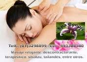 Verdaderos masajes relajantes ¡dile adiós al estrés¡¡¡¡ desde s/30.00