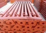 Venta puntales lote de 2,000 puntales reforzados metalicos y galvanizados en remate