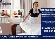 agencia de empleos en lima, brinda empleadas de hogar, niñeras, enfermeras tecnicas
