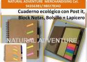 Cuadernos publicitarios y  cuadernos empresariales