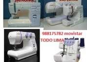 Servicio tecnico de maquinas de coser a domicilio.industriales y domesticas