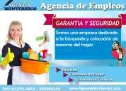 ¿buscas empleada de hogar? brindamos personal domestico con garantía
