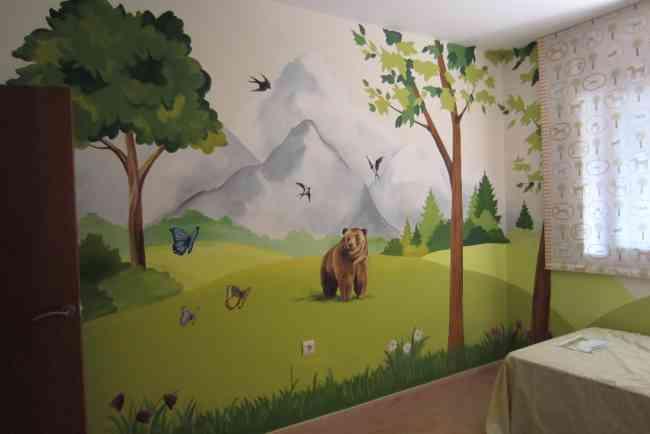 Pinturas sobre pared en estilos realistas, decorativos,infantiles, etc.