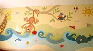 Decore su negocio o casa con bellos murales.
