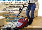 ¿necesitas personal doméstico? brindamos personal empleadas calificados con garantía