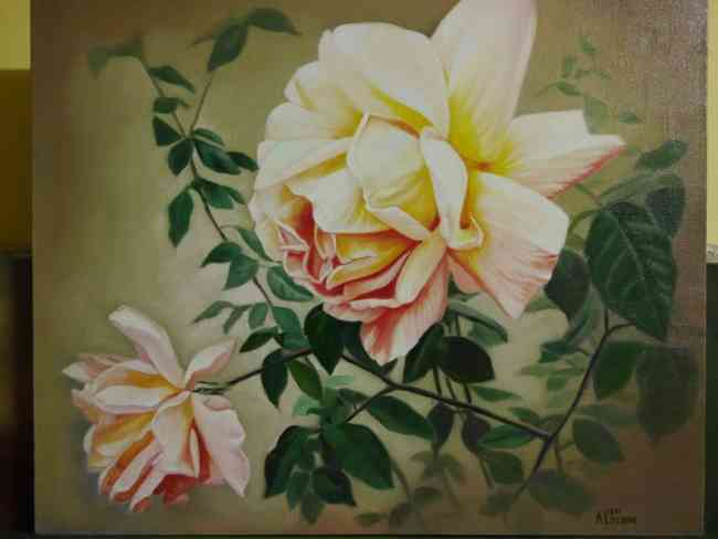 Vendo pintura hecha al oleo recién pintada.