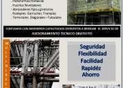 Venta y alquiler andamios certificados fabricación andamios multidireccionales, de fachada venta