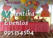 Fiestas  infantiles de peppa  pig  decoraciones valentika eventos en lima