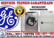 servicio técnico general electric  lavadoras y secadoras 991105199
