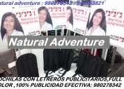 Mochila publiman, mochila publicitaria, mochila cartel