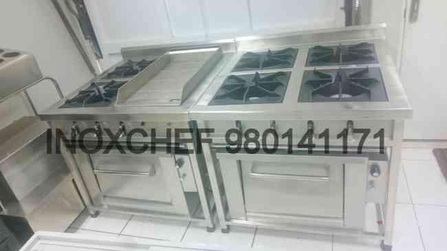 cocina 1,2,3,4,5,6, hornillas acero inxoidable -inoxchef