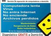 Reparacion de computadoras a domicilio. diagnóstico gratis!
