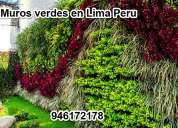 Jardines verticales, muros verdes, en lima peru
