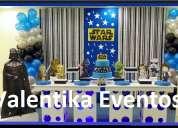 Fiestas de star wars ,decoraciones temáticas valentika eventos
