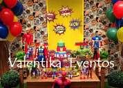 Fiesta de avengers ,decoraciones originales y temáticas en lima