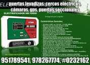 951789541, puertas levadizas piura, cercos eléctricos, cámaras de seguridad, puertas seccionales