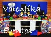 Super heroes , fiestas infantiles ,decoraciones , candy bar , toldos infantiles