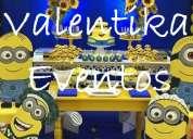Minions fiestas infantiles , decoraciones temáticas , toldos infantiles en lima