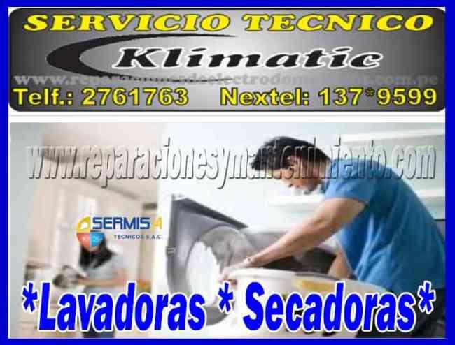 «ON TIME 7378107»REPARACION DE LAVADORA «KLIMATIC / MIRAFLORES