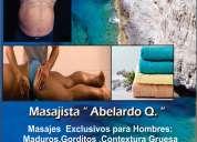 Masajista exclusivo para hombres gorditos y maduros
