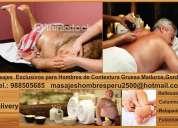 Solo masajes para hombres gorditos y maduros en lima