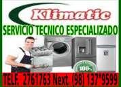 A domicilio!!! tecnico de lavadoras,secadoras klimatic☏7992752 jesÚs maria