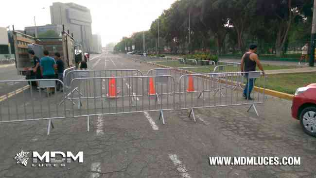 ALQUILER DE VALLAS METALICAS, ENFILADEROS, PARAVALANCHAS, FREE STANDING EN LIMA